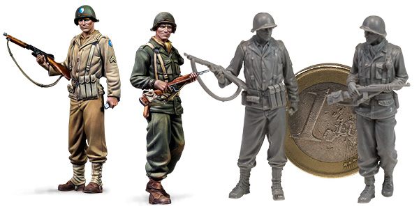 Us Army ETO, 2 FIGURES 1/48 SCALE
