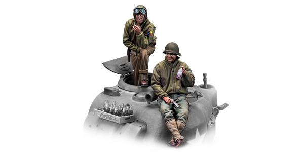 1:48 US tankers. x2 figures. Warfront series