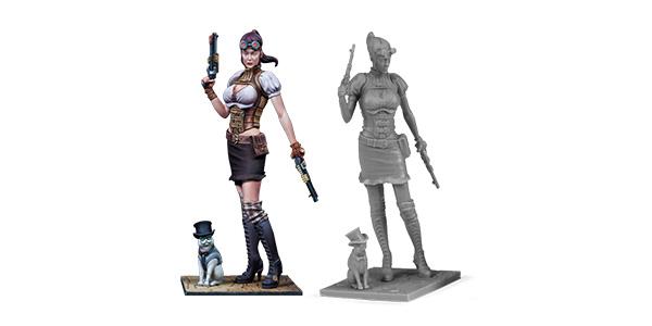 35mm figure. Brigitte LaFayette. Wargames - Fantasy series