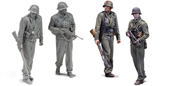 1:48 german tankers. Resin figures. Warfront series