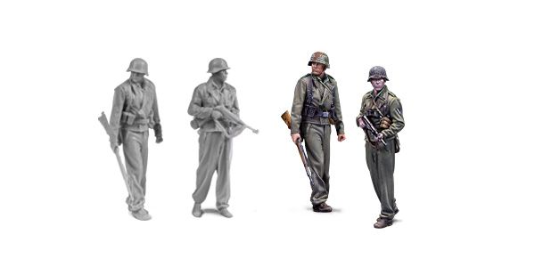 1:72 german tankers. Resin figures. Warfront series