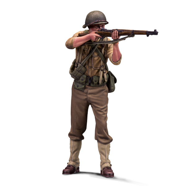 1:35 scale resin figure. US Private, Warfront series