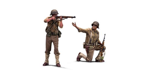 1:48 Soviet troops. Resin figures. Warfront series