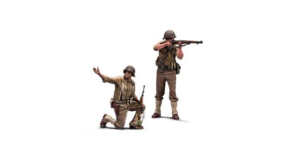 1:72 Soviet troops. Resin figures. Warfront series