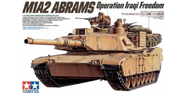M1A2 Abrams Operation Iraqi Freedom. 1:35 scale. Plastic model kit. Tamiya