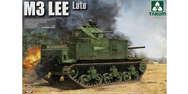 M3 Lee. 1:35 scale. Plastic model kit. Takom
