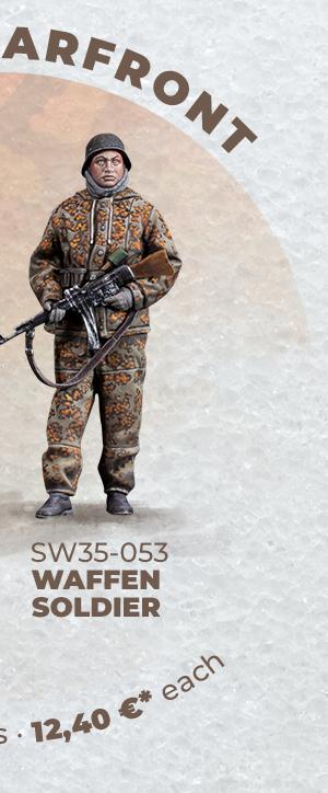 WAFFEN SOLDIER • WARFRONT • 1/35 SCALE FIGURES