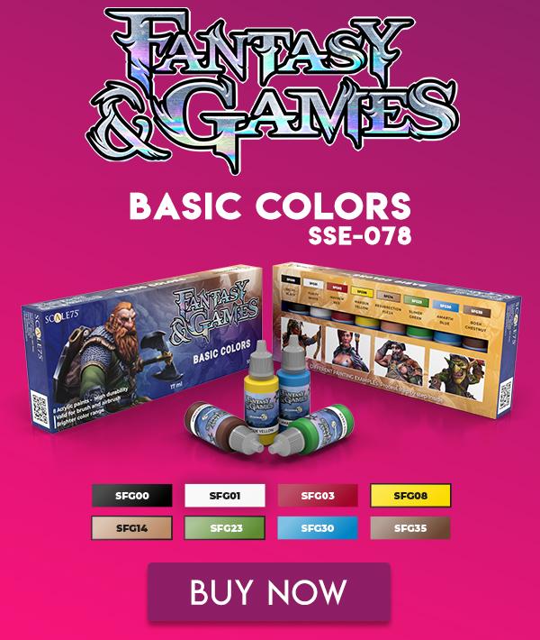 FANTASY & GAMES • BASIC COLORS • PAINT SET